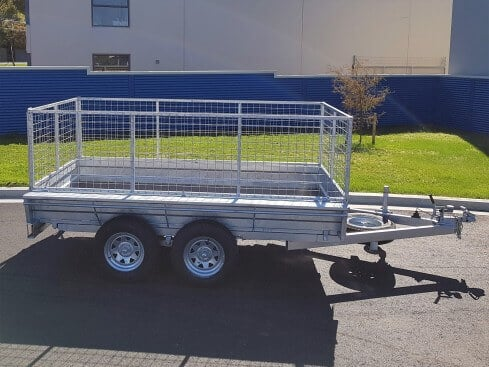 domestic tip trailer side view