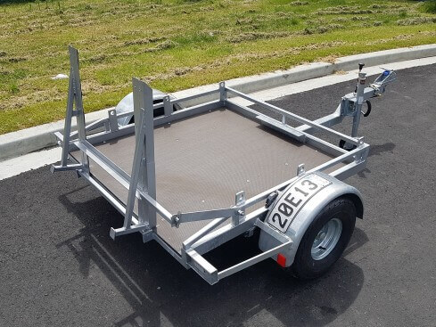 roller compactor trailer view from rear