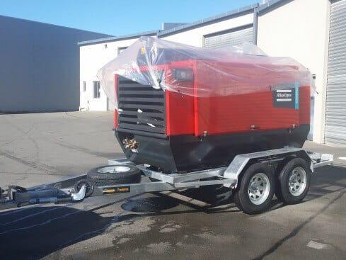 air-compressor trailer tandem axle