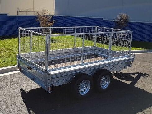 domestic tip trailer rear corner view