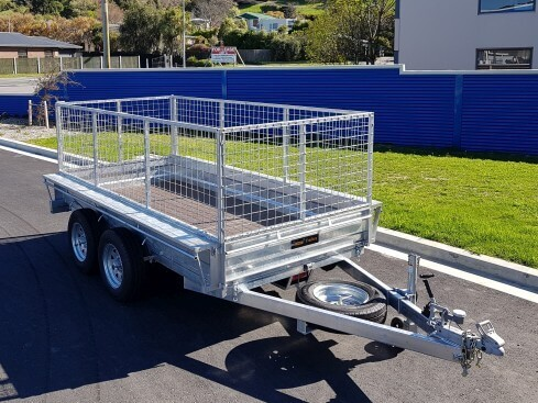 heavy duty tip trailer front view