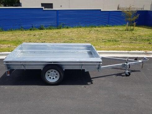 heavy duty trailer single axle side view