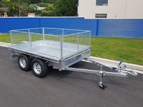 tandem axle heavy duty trailer front view