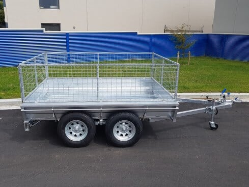 tandem axle heavy duty trailer side view