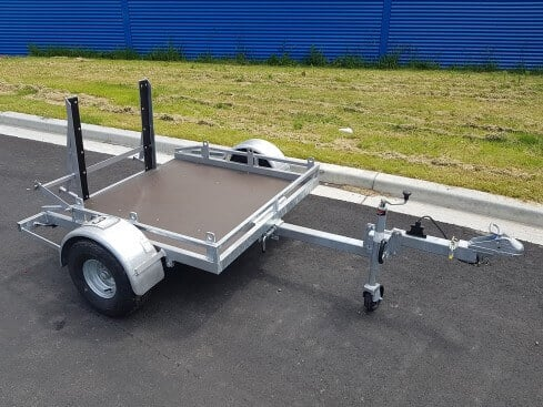 roller compactor trailer view from front