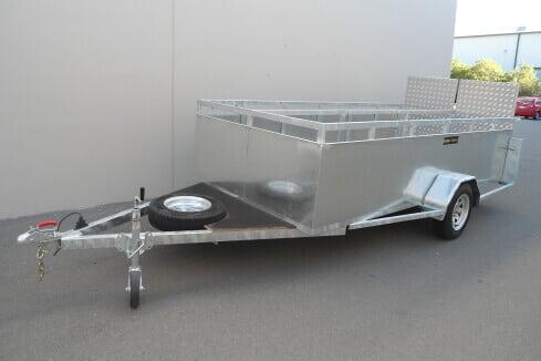 custom trailer for trolley collection
