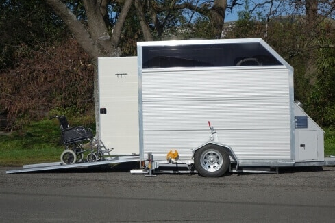 custom trailer for mobile disabled toilet