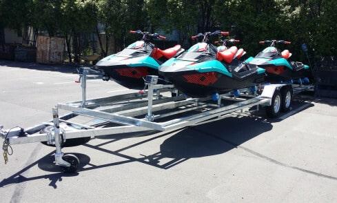 Quad custom jet-ski trailer